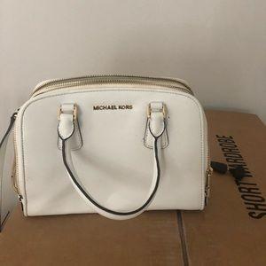 White Michael Kora handbag